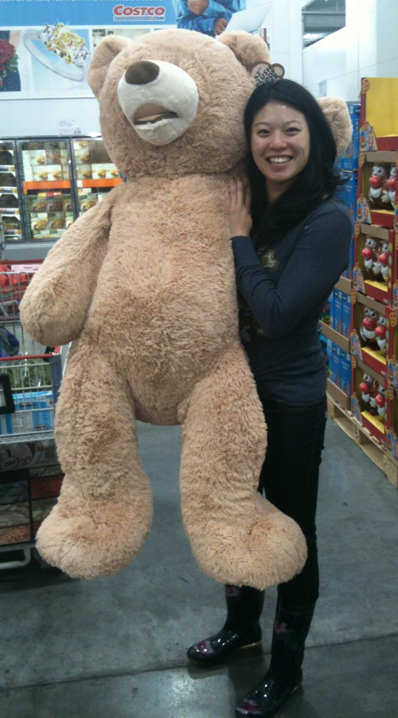 I love Costco & often consider getting a giant $30 teddy bear…but he'd have to pay rent.