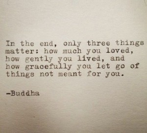 Buddha's 3 things that matter